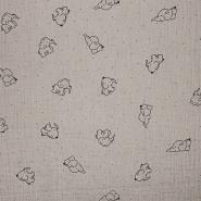 Tetra tkanina, dvostruka, životinjski, 20675-255, bež