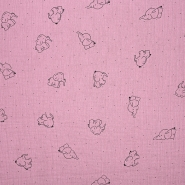 Musselin, doppelt, Tiere, 20675-214, rosa
