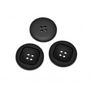 Knopf, für Anzüge, 20 mm, 20466-002, schwarz