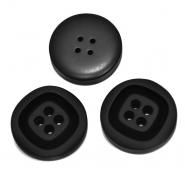 Knopf, für Anzüge, 35 mm, 20469-002, schwarz