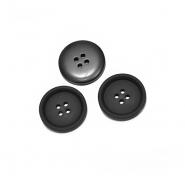 Gumb, kostimski, 15mm, 20470-002, črna