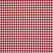 Dekor tkanina, karo, 20708-1, temno rdeča