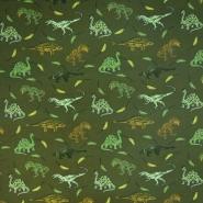 Sweatshirtstoff, flauschig, 20726-7, dunkelgrün