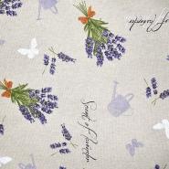Dekostoff, Druck, imprägniert, floral, 20737-1070