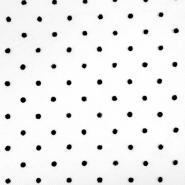 Tüll, weich, Punkte, 20732-9, schwarz
