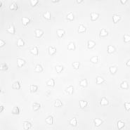 Tüll, weich, Herzen, 20733-1, weiß