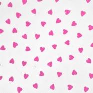 Tüll, Gewebe, Herzen, 20733-4, rosa