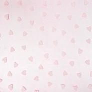 Tüll, weich, Herzen, 20733-5, rosa