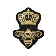 Aufnäher, Royal, 20744-100, schwarz-gold