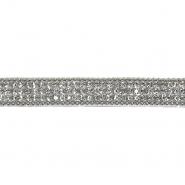 Trak, kristali, 10mm, 20745-101, srebrna