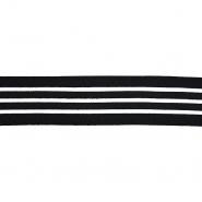 Elastikband, dekorativ, 40 mm, 20747-002, schwarz