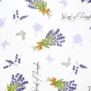 Dekostoff, Druck, imprägniert, floral, 20736-1070