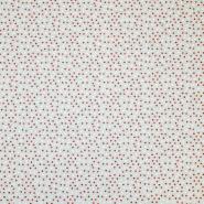 Dekostoff, Druck, imprägniert, Punkte, 18277-6213, rot