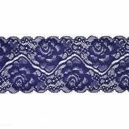 Čipka, elastična, 90 mm, 20482-020, modra