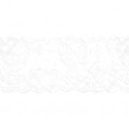Spitze, elastisch, 90 mm, 20482-003, weiß