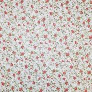 Deko, tisak, impregniran, cvjetni, 18277-6208, crvena
