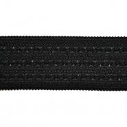 Elastikband, dekorativ, 70 mm, 20484-002, schwarz