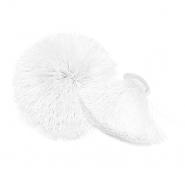 Dekorative Bommel, 55 mm, 20496-001, weiß