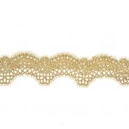 Spitze, gestickt, 50 mm, 20739-100, golden