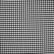Pamuk, popelin, pepita, 20835-3, crna