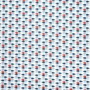 Pamuk, popelin, geometrijski, 20841-2, plava