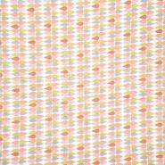 Pamuk, popelin, geometrijski, 20841-5, marelica