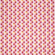Pamuk, popelin, geometrijski, 20841-6, ružičasta