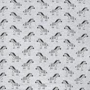 Sweatshirtstoff, Tiere, 20771, grau