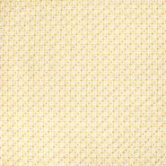 Baumwolle, Popeline, geometrisch, 20790-4, gelb - Bema Stoffe
