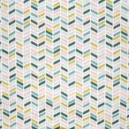 Pamuk, popelin, geometrijski, 20804-1, zelena