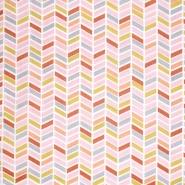 Pamuk, popelin, geometrijski, 20804-3, ružičasta