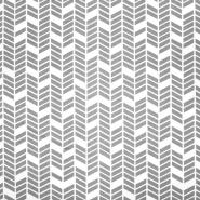 Baumwolle, Popeline, geometrisch, 20819-1, grau