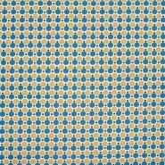 Baumwolle, Popeline, Punkte, 20820-2, blau-gelb