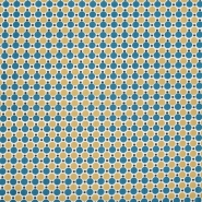 Bombaž, poplin, pike, 20820-2, modro rumena