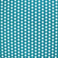 Pamuk, popelin, zvijezde, 20825-3, zelena