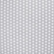 Bombaž, poplin, zvezde, 20825-4, svetlo siva