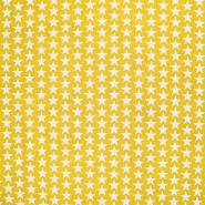 Pamuk, popelin, zvijezde, 20825-5, žuta