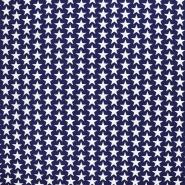Baumwolle, Popeline, Sterne, 20825-6, dunkelblau