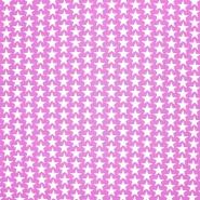 Bombaž, poplin, zvezde, 20825-10, roza