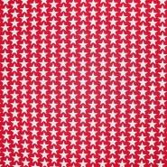 Pamuk, popelin, zvijezde, 20825-11, crvena