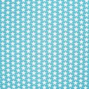 Pamuk, popelin, zvijezde, 20825-13, svjetloplava
