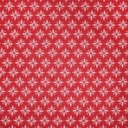 Pamuk, popelin, cvjetni, 20830-1, crvena