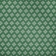 Pamuk, popelin, cvjetni, 20830-2, zelena