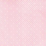Bombaž, poplin, geometrijski, 20831-2, roza