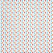 Baumwolle, Popeline, Tränen, 20842-4, blau-orange