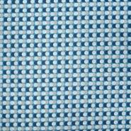 Bombaž, poplin, pike, 20844-3, modra