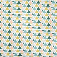 Pamuk, popelin, geometrijski, 20855-1, zeleno-žuta
