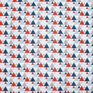 Baumwolle, Popeline, geometrisch, 20855-2, rot-blau