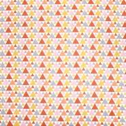 Baumwolle, Popeline, geometrisch, 20855-3, orange-gelb