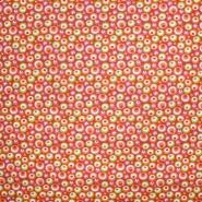 Baumwolle, Popeline, Kreise, 20856-2, rot-grün